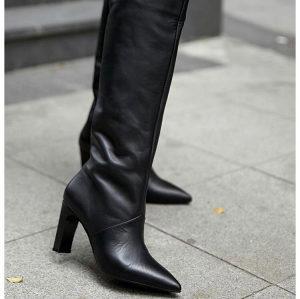 Crne duge cizme Masel