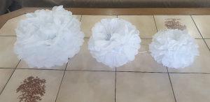 Kugle od papira za vjencanje