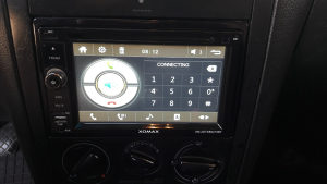 XOMAX radio display DIN 2