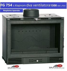 Ugradbeni kamin Casset FG 754-sa ventilatorima