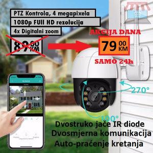 AKCIJA DANA 4MP ICSee WiFi PTZ Kamera 1080p