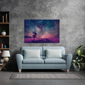 Canvas slika - Fantazija, Ljubičasta, zvjezdano nebo