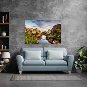 Canvas slika - Stari grad, Most, Mostar, Neretva, BA