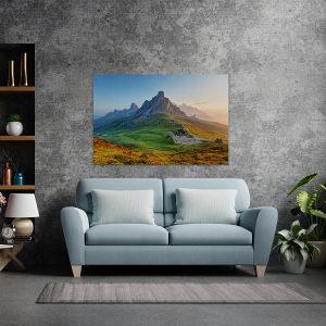 Canvas slike - Dolomitske Alpe, Izalazak sunca, Italija