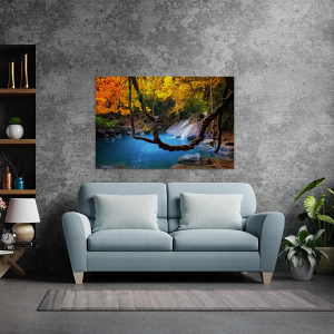 Canvas slika - Tropski slap, Jezerce, Džungla, Azija