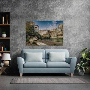 Canvas slika - Stari most, Mostar, rijeka Neretva, BA