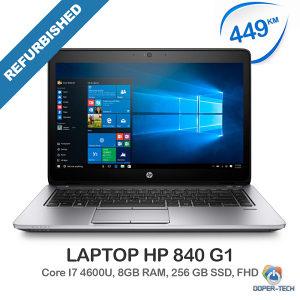 Laptop HP 840 G1; i7-4600u; 256GB SSD; 8GB RAM