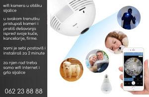 Wifi kamera u obliku sijalice - 24/7h nadzor