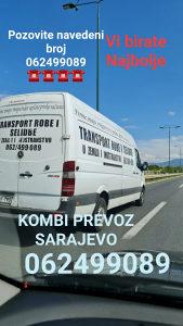 Kombi prevoz transport robe i selidbe 062499089