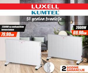 KONVEKTOR / GRIJALICA KUMTEL - LUXELL 2000W I 2500W