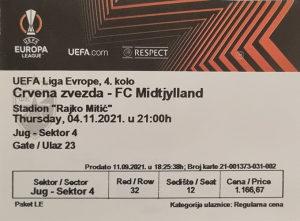 Crvena Zvezda - FC Midtjylland karta