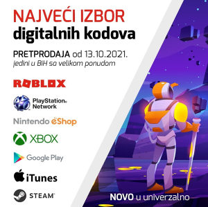 Digitalni Kodovi(Roblox,Nintendo,PS,XBOX,iTUNES,STEAM)