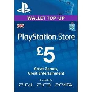 PSN Card 5 funti GBP UK  - DIGITALNI KOD