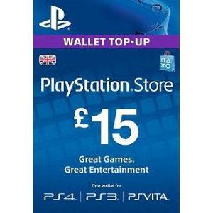 PSN Card 15 funti GBP UK - DIGITALNI KOD