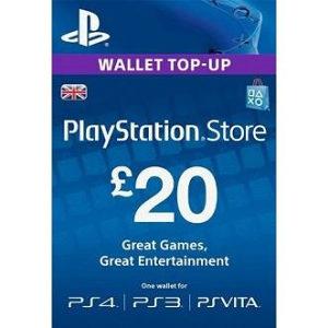 PSN Card 20 funti GBP UK - DIGITALNI KOD