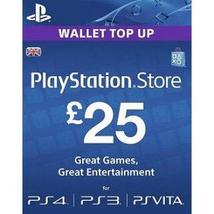 PSN Card 25 funti GBP UK - DIGITALNI KOD