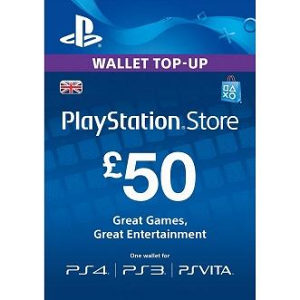 PSN Card 50 funti GBP UK - DIGITALNI KOD