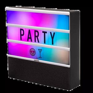 Lightbox LED RGB natpis slova + Bluetooth zvučnik
