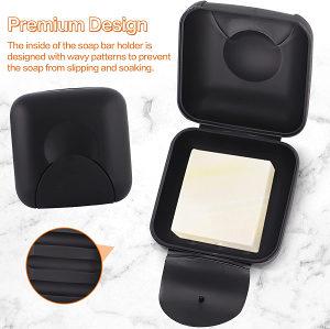 Putna plastična crna futrola za sapun posuda kutija