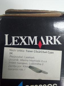 LEXMARK Toner C5x2/C5x4 Cyan 3K