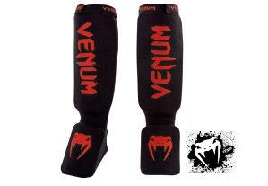 "Venum- ""Kontact Shinguards"" Štitnici - Black/Red"""