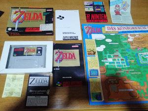 Zelda Super Nintendo u kutiji rijetka igra