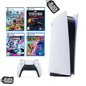 Sony PlayStation 5 + 4 Igre PS5
