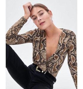Zara body animal print
