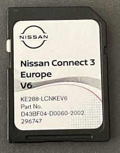 Nissan CONNECT 3 Europe - V6 NOVE MAPE SD 2022