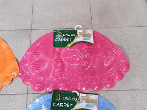 Prostirka kupatilo stopala pink 56x33cm