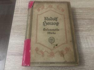 Stara Njemačka knjiga iz 1922 godine RUDOLF HERZOG