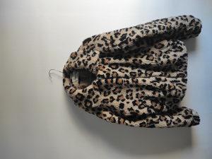 Teddy leopard ženska jakna