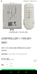 Wireless lighting controller switch