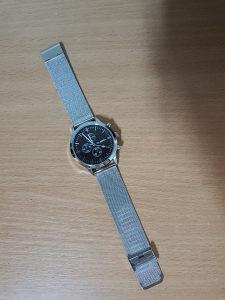 CUENA muški srebrni sat narukvica od nerđajućeg čelika