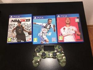Dualshock 4 Joystick Playstation 4 CAMO GREEN FIFA NBA