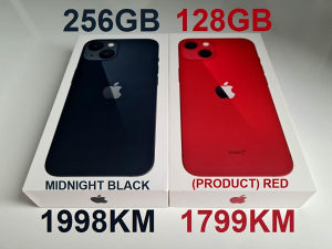 IPHONE 13 MIDNIGHT 256GB * IPHONE RED 128GB ***NOVO***