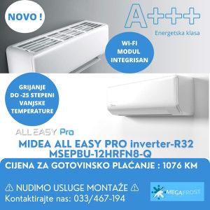 MIDEA ALL EASY PRO MSEPBU-12HRFN8-Q inverter-R32
