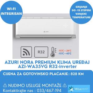 AZURI NORA PREMIUM KLIMA UREĐAJ AZI-WA35VG R32-inverter